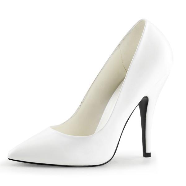 PleaserUSA Damen High Heels-Pumps Seduce-420 mattweiß