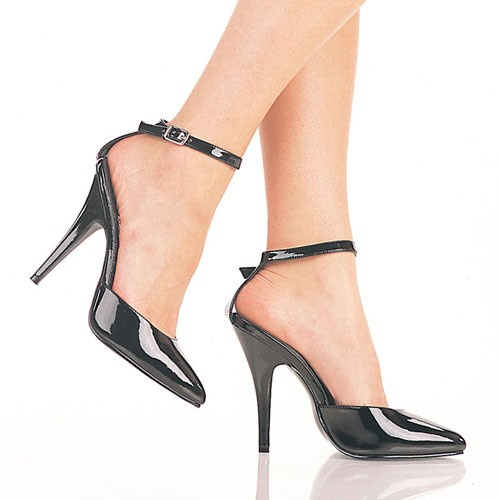 SALE! PleaserUSA Damen High Heels Sandaletten Seduce-401 Lack schwarz