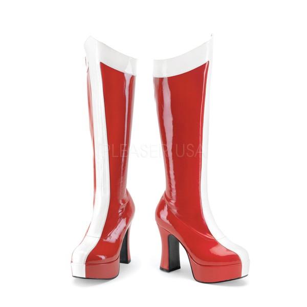 Funtasma Stiefel Superheldinnen Exotica-305 rot/weiß