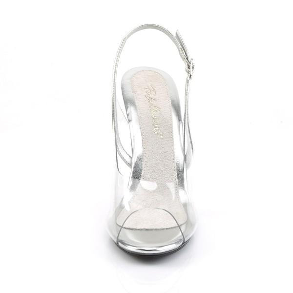 Fabulicious transparente Slingback-Sandaletten Caress-450