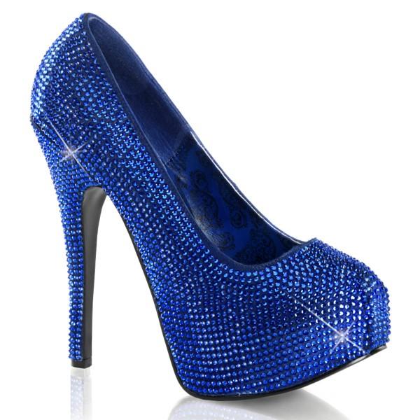 Bordello InStyle-Pumps Teeze-06R royal-blau