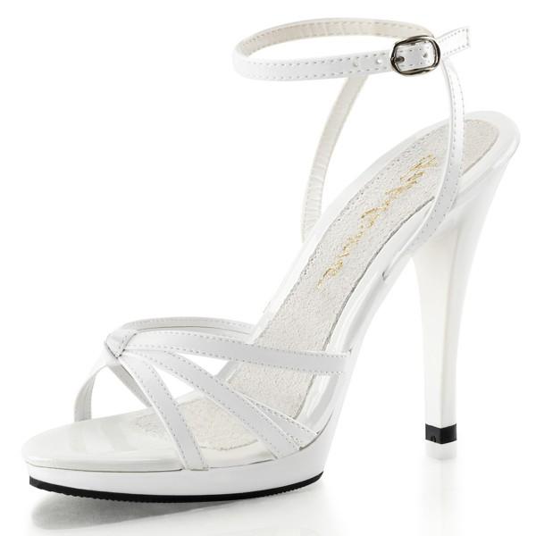 PleaserUSA High Heels Sandaletten Flair-436 weiß