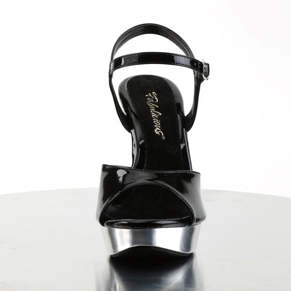 Fabulicious High Heels Sandaletten Cocktail-509 schwarz/chrom