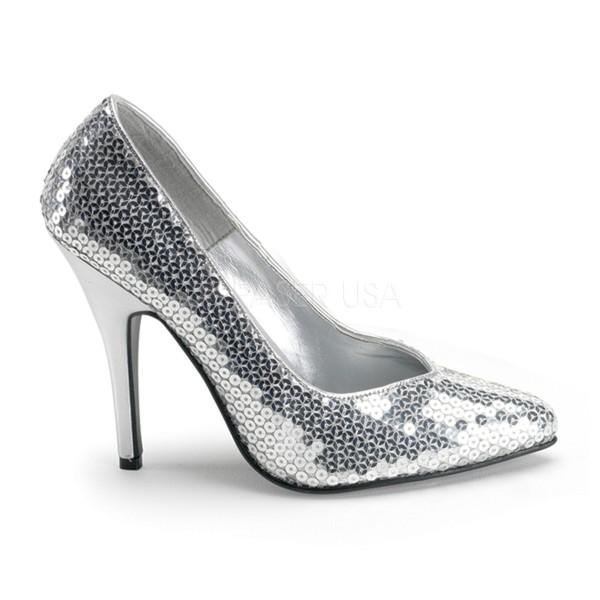 PleaserUSA High Heels-Pumps Seduce-420SQ silber