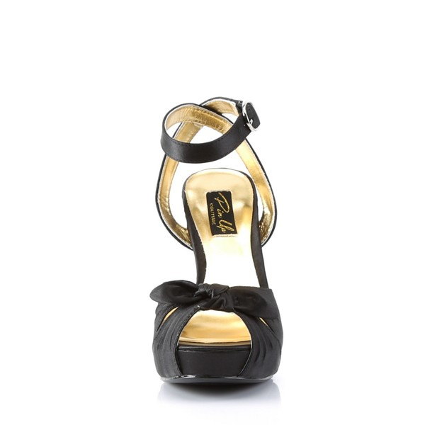 PinUp Couture High-Heels Sandaletten Bettie-04 schwarz