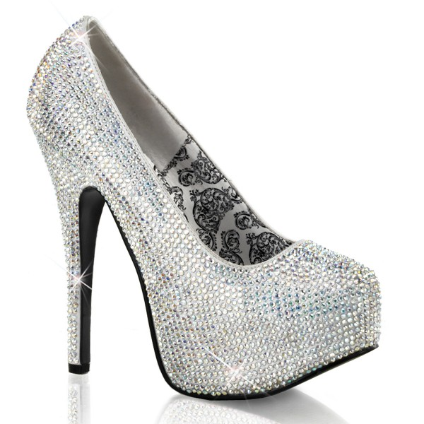 Bordello InStyle-Pumps Teeze-06R silber