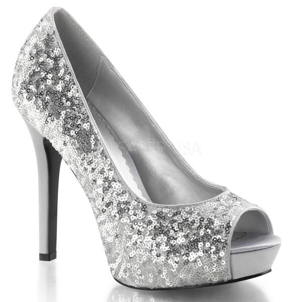 SALE! Fabulicious Damen High Heels Pumps Lumina-27SQ silber