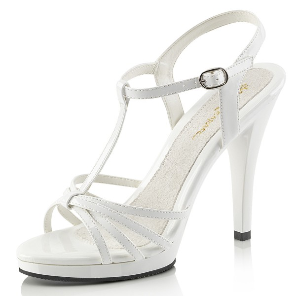 Fabulicious Damen Riemchen Sandaletten Flair-420 Lack weiß