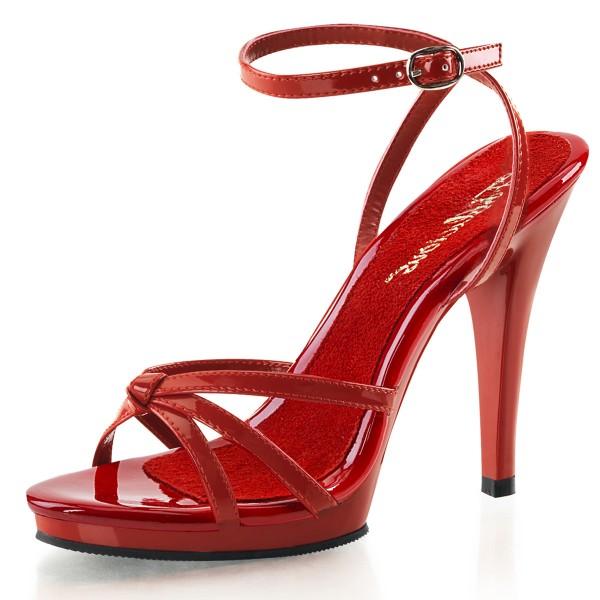 PleaserUSA High Heels Sandaletten Flair-436 rot