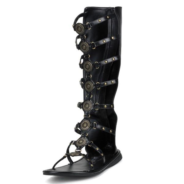 Funtasma Gladiatoren-Sandalen für Herren Roman-15 schwarz